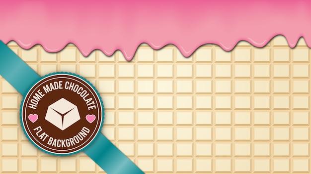 Weißer schokoladenblockhintergrund