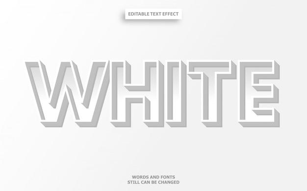 Weißer schrifteffekt