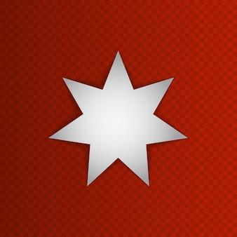 Weißer siebenzackiger stern auf rotem grund. jordanien. 25. mai. vektor-illustration. nationales symbol. eps10.