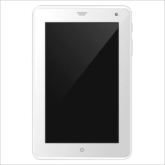 Weißer tablet-pc