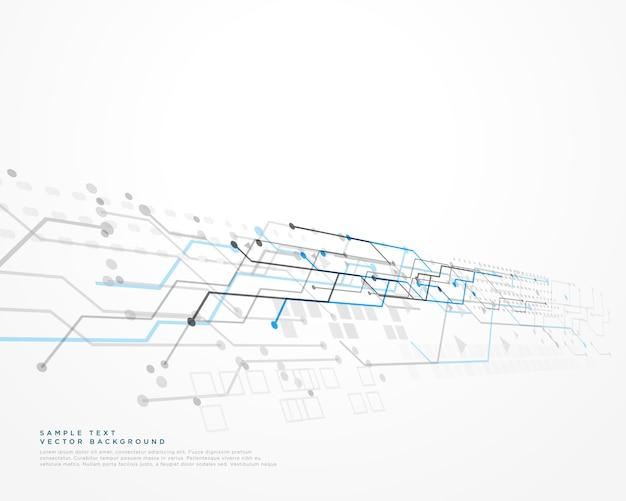Weißer technologiehintergrund mit ineinander greifendiagramm