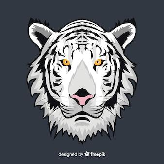 Weißer tiger hintergrund