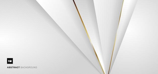Weißer und grauer geometrischer metallischer hintergrund der bannerwebschablone.