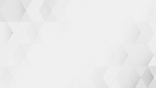 Weißer und grauer geometrischer musterhintergrundvektor