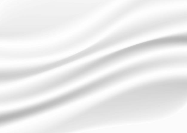 Weißer und grauer ton des abstrakten hintergrundes, welle, die mit modernem konzept des schattens, raum für text- oder mitteilungsnetz und buchdesign überschneidet