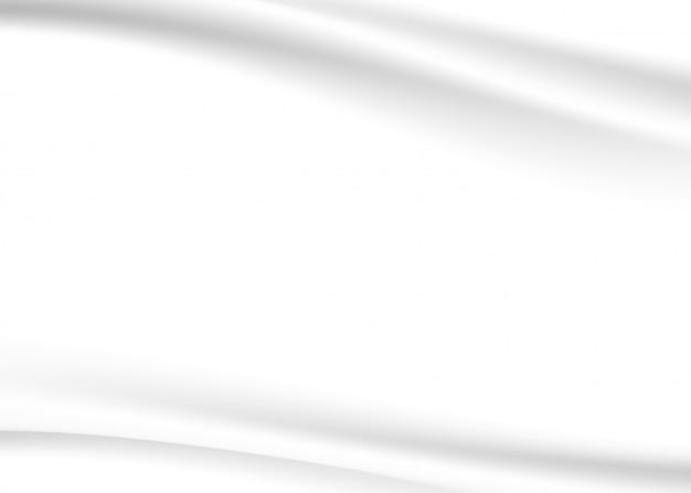 Weißer und grauer ton des abstrakten hintergrundvektors, welle, die mit modernem konzept des schattens überschneidet