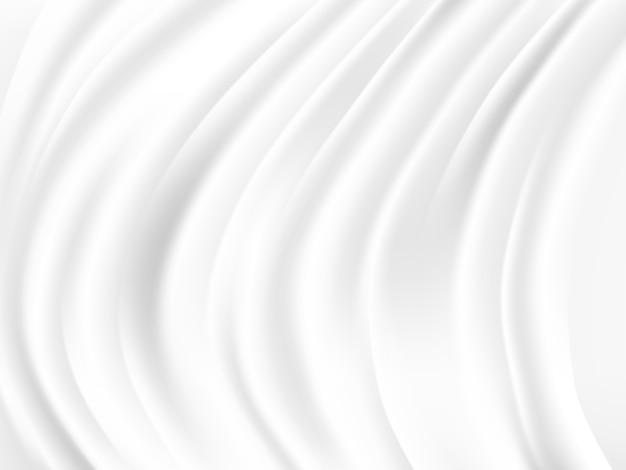 Weißer und grauer tonvektorhintergrund der abstrakten welle