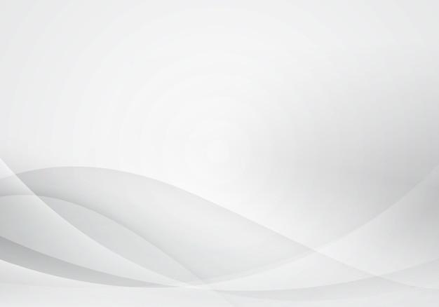 Weißer und grauer wellenzusammenfassungshintergrund. softdesign für grafische arbeiten