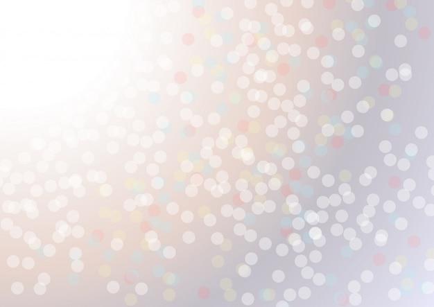 Weißer unschärfezusammenfassungshintergrund. bokeh weihnachten verschwommen schöne glänzende weihnachtsbeleuchtung