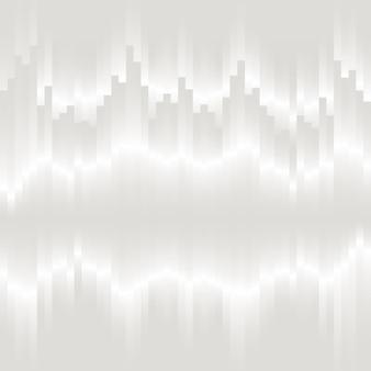 Weißer vertikaler glitch-hintergrunddesign-ressourcenvektor