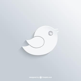 Weißer vogel-logo