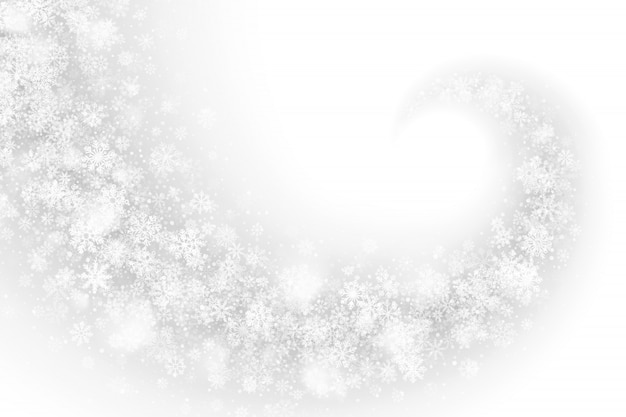 Weißer wirbelnder schneeeffekt