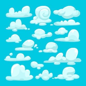 Weißer wolkenkarikatursatz