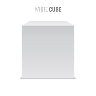Weißer würfel. box. illustration.