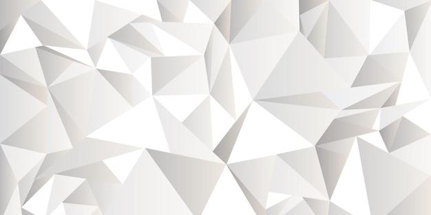 Weißer zerknitterter abstrakter hintergrund, low-poly-stil. moderne vektorschablone der beschaffenheit für design, geometrische tapete