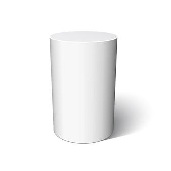 Weißer zylinder. illustration.