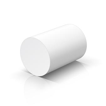 Weißer zylinder