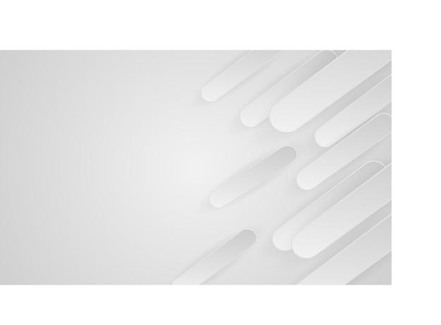 Weißes abstraktes hintergrunddesign mit papierart