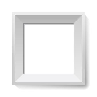 Weißes bild und fotorahmen