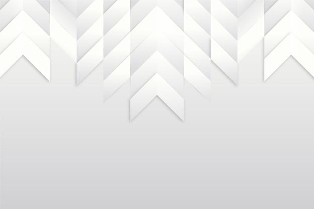 Weißes design des 3d-papierstils mit kopienraum