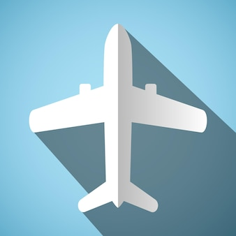 Weißes flugzeugsymbol