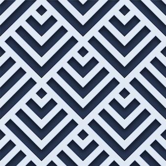 Weißes geometrisches nahtloses muster 3d
