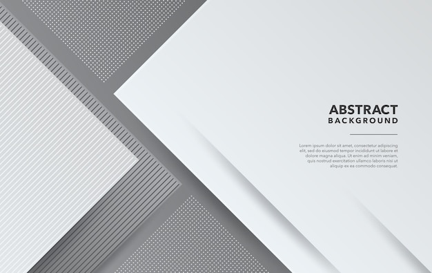 Weißes graues modernes abstraktes hintergrunddesign