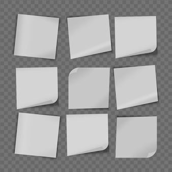 Weißes haftnotizpapier