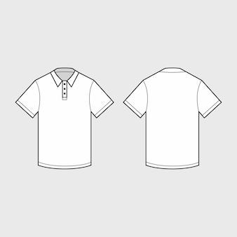 Weißes herrenpoloshirt für schablone.