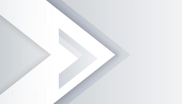 Weißes hintergrunddesign im pfeilstil