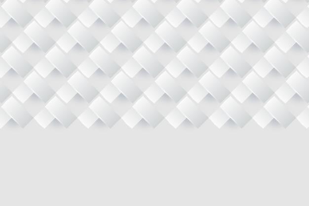 Weißes hintergrundkonzept in der art des papiers 3d