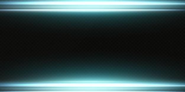 Weißes horizontales linseneffektpaket. laserstrahlen, horizontale lichtstrahlen. schöne lichtfackeln. leuchtende streifen auf hellem hintergrund. leuchtender abstrakter funkelnder gezeichneter hintergrund.