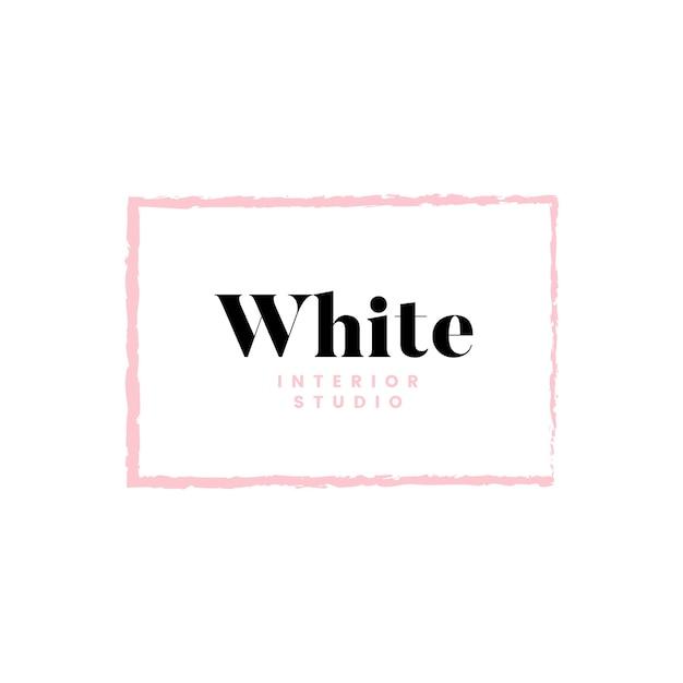 Weißes innenstudio-logodesign