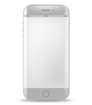 Weißes intelligentes Telefon