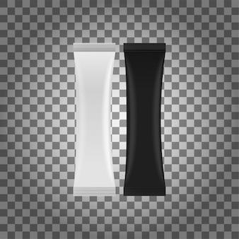 Weißes leeres folien-lebensmittel doypack. a stand up pouch bag verpackung mit reißverschluss.