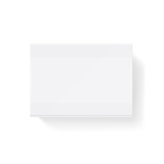 Weißes leeres geschlossenes streichholz, matchboxillustration. matchbox schiebe mock-up