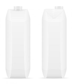 Weißes leeres paket mit saftvektorillustration