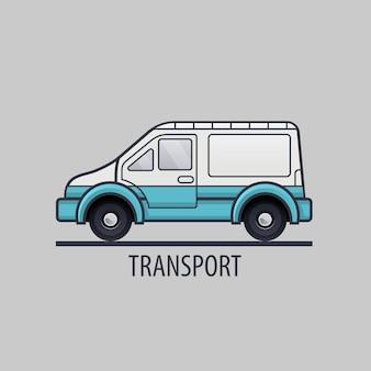 Weißes liefersymbol. flacher stil. saubere illustration