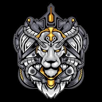 Weißes löwengesicht