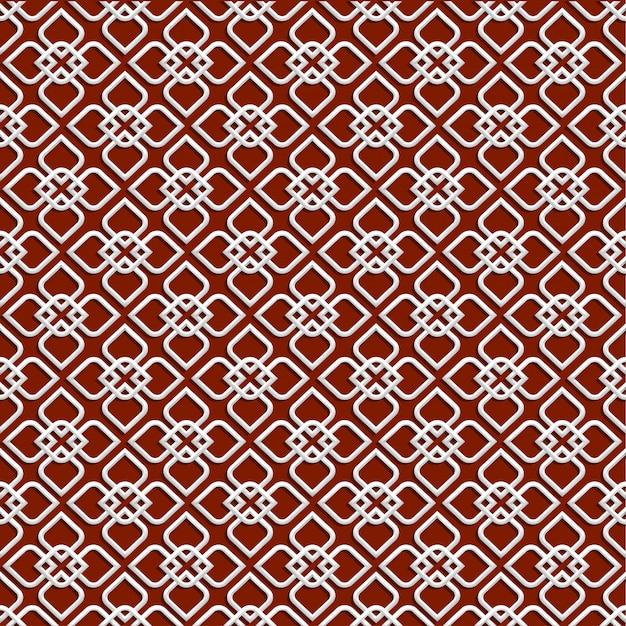 Weißes muster 3d in der islamischen art