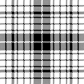 Weißes nahtloses musterplaid des modernen pixelschwarzen
