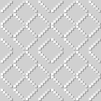 Weißes papier kunst mosaik pixel dreieck check cross frame, stilvolle dekoration muster hintergrund für web-banner grußkarte