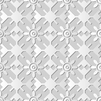 Weißes papier kunst polygon geometrie runde kreuzrahmen blume, stilvolle dekoration muster hintergrund für web-banner grußkarte