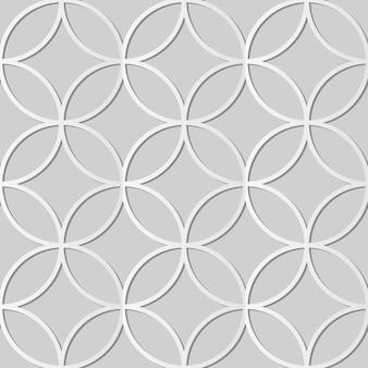 Weißes papier kunst runde kreuzrahmen geometrie, stilvolle dekoration muster hintergrund für web-banner grußkarte