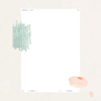 Weißes papier mit pinselstrich