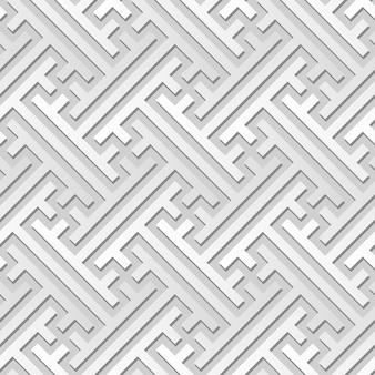 Weißes papierkunst-geometrie-kreuz-maßwerk-rahmen, stilvoller dekorationsmusterhintergrund für web-banner-grußkarte