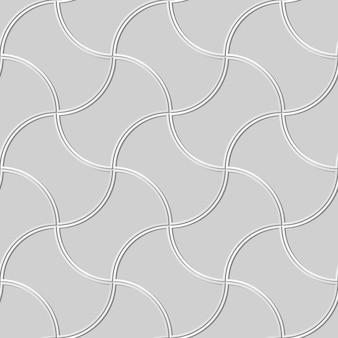 Weißes papierkunst-kurven-kreuz-geometrie-rahmen-ziegelstein, stilvoller dekorationsmusterhintergrund für web-banner-grußkarte