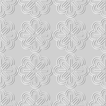 Weißes papierkunst-kurven-kreuzrahmen-linienblume, stilvoller dekorationsmusterhintergrund für web-banner-grußkarte