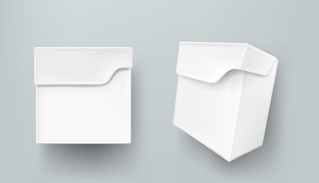 Weißes papierpaket der teekiste für produkte