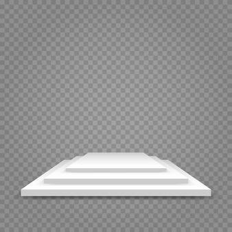 Weißes podium